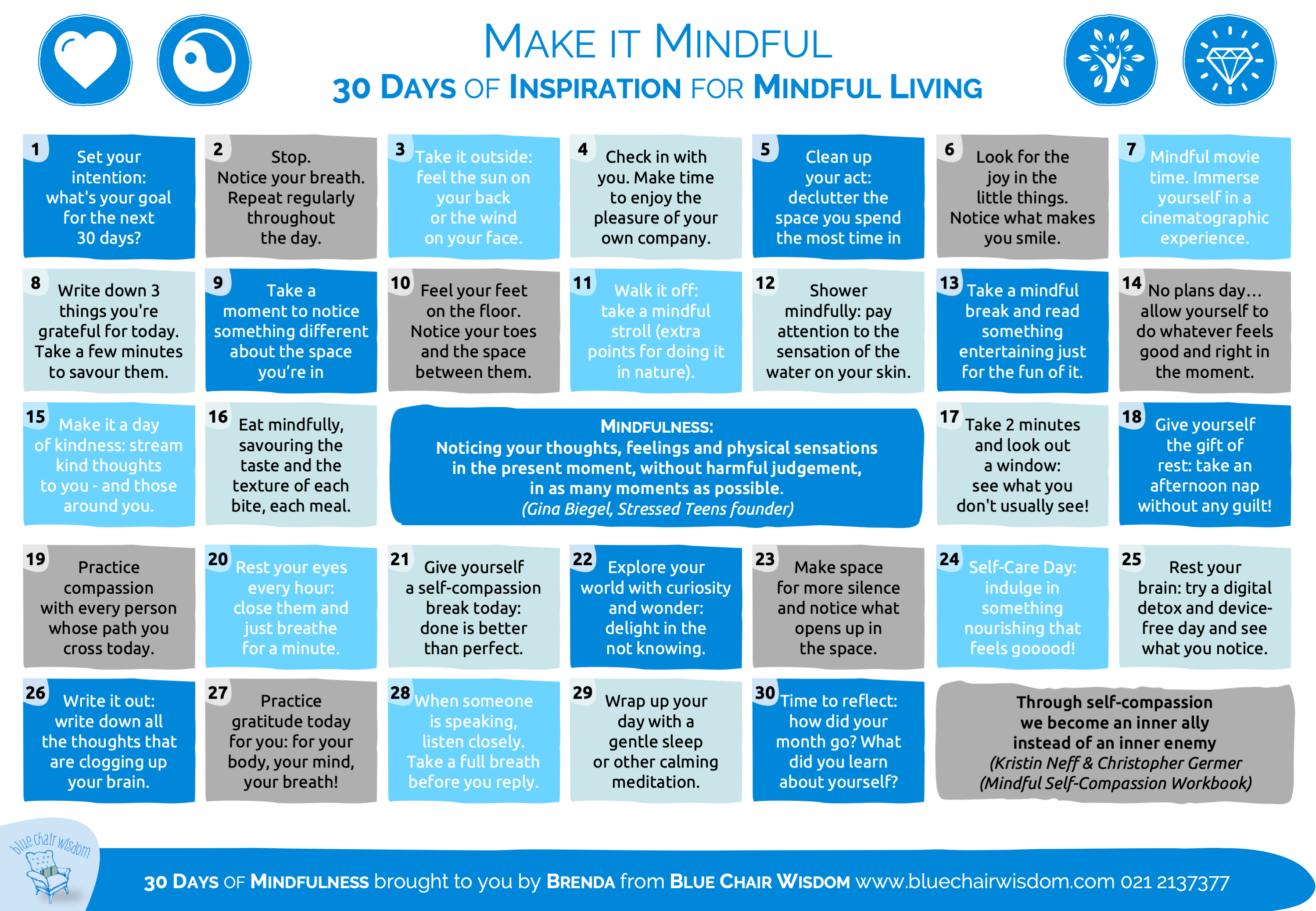 30 days of inspiration for mindful living
